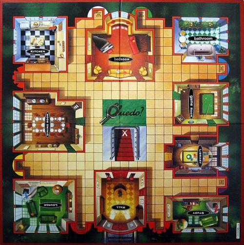 Cluedo Haus Räume
