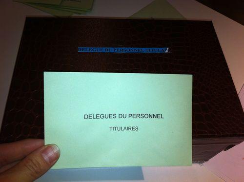 Elections delegues personnel