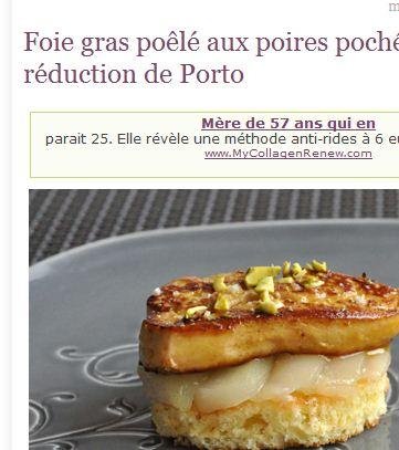 C'est moi qui l'ai fait ! Foie gras poêlé aux poires pochées épicées, réduction