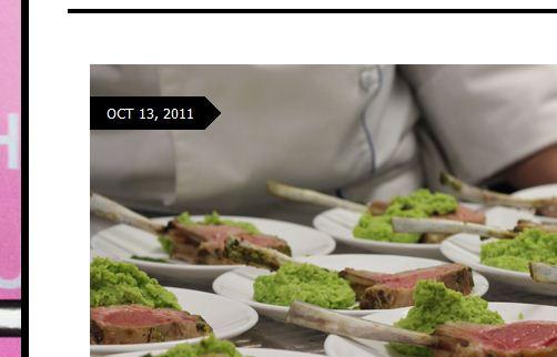 Carré agneau sauce verte purée de fèves menthe et parmesan  Auntie Jo funny lit_2011-12-17_21-20-26