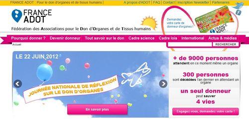FRANCE ADOT - Fédération des Associations pour le Don d'Organes