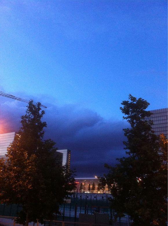 Coucher d'orage sur la BNF