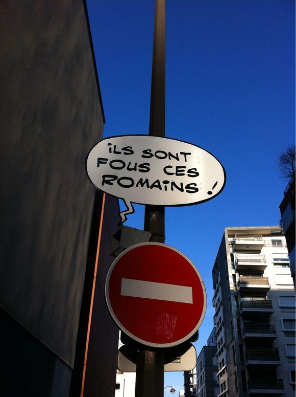 Ils sont fous ces Romains, à Paris