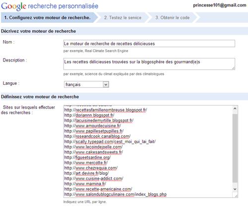 Recherche personnalisée Google - Créer un moteur de recherche personnalisé