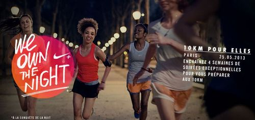 We Own The Night 10Km Femmes (Paris 13) - Nike