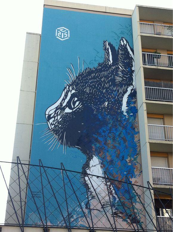 Le chat bleu du 13e #StreetArt